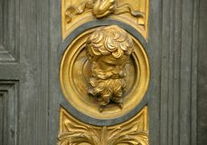 Particolari del cancello del paradiso, Firenze, Italia immagine stock