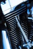 Particolari del motore del motociclo Fotografia Stock