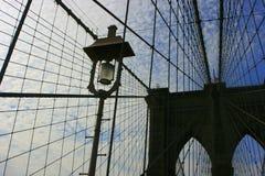 Particolari del ponte di Brooklyn Immagini Stock Libere da Diritti