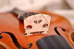 Particolari del violino Fotografie Stock