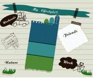 Particolari dell'album di vettore impostati royalty illustrazione gratis