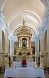 Particolari dell'altare in cattedrale Immagini Stock Libere da Diritti