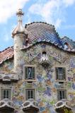 Particolari della casa di Gaudi Fotografie Stock Libere da Diritti