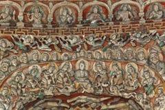 Particolari della caverna di bodhisattva di bhumi di Vimala Immagine Stock Libera da Diritti