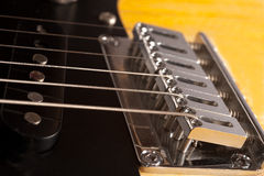 Particolari della chitarra elettrica fotografie stock libere da diritti