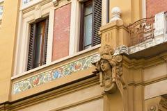 Particolari della facciata della casa di Firenze Fotografie Stock