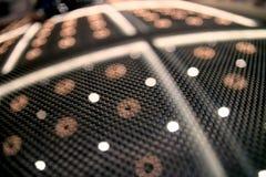 Particolari della fibra del carbonio dell'automobile Fotografia Stock Libera da Diritti