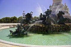 Particolari della fontana in Bordeaux fotografia stock libera da diritti