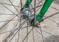 Particolari della rotella di bicicletta Fotografia Stock