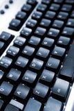Particolari della tastiera nera Fotografie Stock