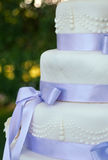 Particolari della torta di cerimonia nuziale fotografie stock libere da diritti
