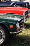 Particolari delle automobili, del cuscino ammortizzatore, della rotella e delle gomme britannici dell'annata Immagini Stock Libere da Diritti