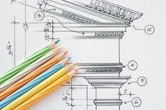 Particolari di disegno interno Immagini Stock