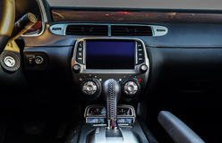 Particolari di lusso dell'interno dell'automobile Immagini Stock Libere da Diritti