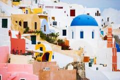 Particolari di Santorini Fotografie Stock Libere da Diritti