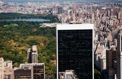Particolari edificio di New York con la parte della parità centrale Fotografie Stock Libere da Diritti