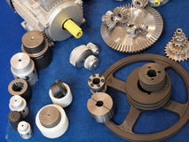 Particolari elettrici del motore Immagini Stock