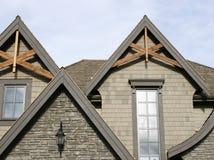 Particolari esterni domestici del tetto Fotografia Stock