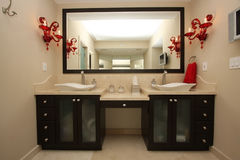 Particolari lussuosi della stanza da bagno Immagine Stock Libera da Diritti