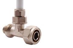 Particolari per collegamento dei tubi di acqua fotografia stock libera da diritti