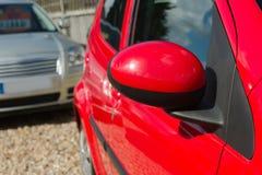 Particolari rossi dell'automobile Fotografie Stock