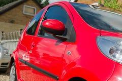 Particolari rossi dell'automobile Fotografia Stock