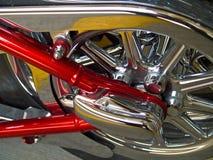 Particolari stazionari del motociclo Fotografia Stock