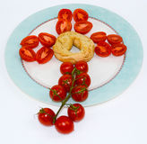 Particolarmente cibo da mangiare con le mani italiano fotografia stock