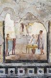 Particolarmente della casa dell'affresco, Pompei Fotografia Stock Libera da Diritti