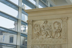 Particular of Ara Pacis and Saint Rocco Church Royalty Free Stock Photography