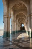 Particular of the arches. Of the naves of hassan 2 mosque in Casablanca in Morocco Royalty Free Stock Images