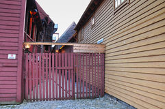 Particular of Bryggen. Royalty Free Stock Photo