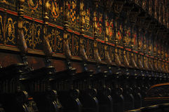Particular of the choir Stock Images