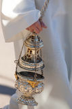 Particular of a christian censer Stock Image