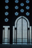 Particular the decoration. Of the windows of the mosque hassan 2 Royalty Free Stock Image