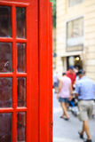 Particular of english call box in malta Stock Image