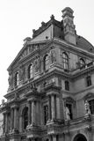 Particular facade of the Louvre in Paris Royalty Free Stock Image
