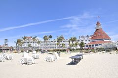 Particular of the famous hotel on Coronado island royalty free stock photography