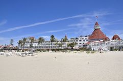 Particular of the famous hotel on Coronado island stock photo
