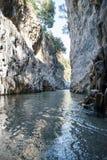 Particular Gorges Alcantare at Catania. Vertical photo Royalty Free Stock Photos