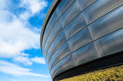 Particular of the Hydro concert arena in Glasgow. Royalty Free Stock Photos