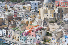 Particular mediterranean architecture of Procida Royalty Free Stock Photo