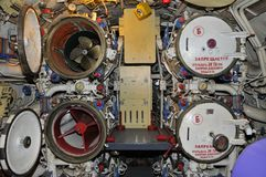 Particular Of Launch Room Of Russian Submarine B39 In San Diego Stock Images