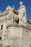 Particular of Piazza del Campidoglio Rome Italy Stock Photography