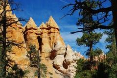 Particular rock towers, Bryce Canyon, Utah. Rock towers in Bryce Canyon, Utah Stock Image