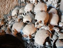 Skulls in Naples stock images