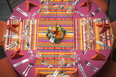 Particular of a table set for ceremony Royalty Free Stock Photo