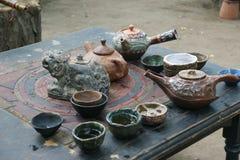 Particular tea set Stock Photo