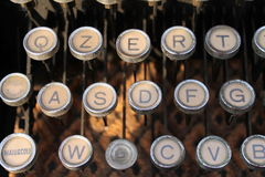 Particular typewriter. Detail of old typewriter keys stock image