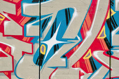Particular of a urban graffiti. Detail of an urban fantasy graffiti on a wall Royalty Free Stock Photography